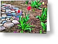Tulip Rock Garden Greeting Card