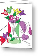 Tulip - Scribble Collection Greeting Card