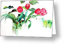 Tulipes Greeting Card