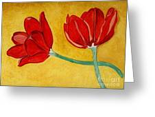 Tulips And Love Happy Together Greeting Card