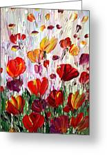 Tulips Flowers Garden Seria Greeting Card