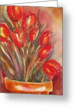 Tulips For David Greeting Card