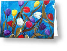 Tulips Galore II Greeting Card