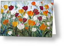 Tulips Garden Greeting Card