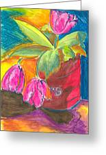 Tulips In Can Greeting Card