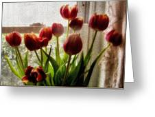 Tulips Greeting Card by Karen Scovill