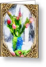 Tulips On A Half Shelf Greeting Card
