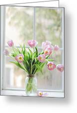 Tulips On The Window Greeting Card