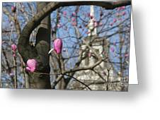 Tulips On Trees  Greeting Card