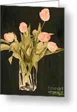 Tulips On Velvet Greeting Card