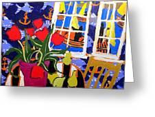 Tulips, Pears, Sailboats Greeting Card