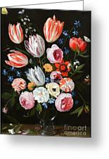 Tulips Roses Peonies Greeting Card