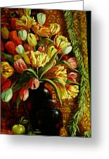 Tulips With Apple Greeting Card