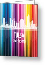 Tulsa Ok 2 Vertical Greeting Card
