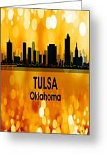 Tulsa Ok 3 Vertical Greeting Card