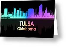 Tulsa Ok 5 Squared Greeting Card