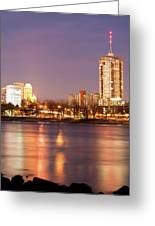 Tulsa Oklahoma Lights On The River Greeting Card