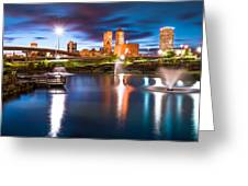 Tulsa On The Water Greeting Card by Gregory Ballos
