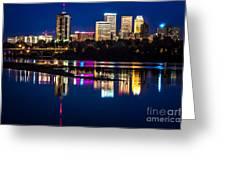 Tulsa Skyline At Twilight Greeting Card by Tamyra Ayles