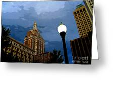 Tulsa Streetscape Greeting Card