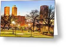 Tulsa Through The Trees Greeting Card