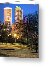 Tulsa Towers From Centennial Park Greeting Card