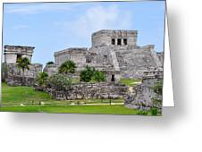 Tulum Mayan Ruins Greeting Card