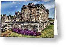 Tulum Temple Ruins Greeting Card