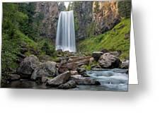 Tumalo Falls Closeup Greeting Card