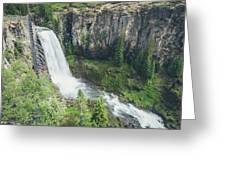 Tumalo Falls Greeting Card by Margaret Pitcher
