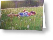 Tumble In The Grass Greeting Card