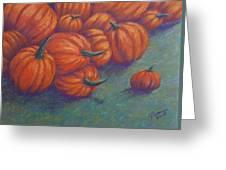 Tumbled Pumpkins Greeting Card