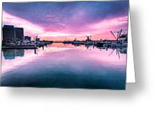 Tuna Harbor Sunrise Greeting Card