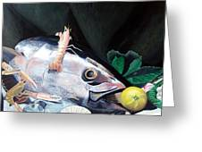 Tuna Head In Venice Greeting Card