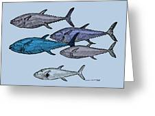 Tuna School Of Fish Greeting Card