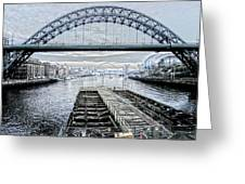 Tyne Bridge, Newcastle Greeting Card