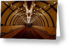 Tunnel Abstract Greeting Card