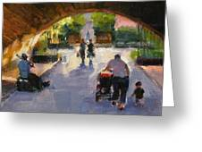 Tunnel In Central Park Greeting Card