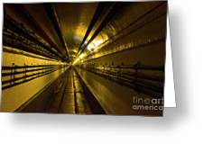 Tunnel In Schoenenbourg Fort, France Greeting Card