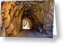 Tunnel Route 4nm Greeting Card