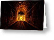 Tunnel Sparks Greeting Card