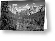 Tunnel View Bw Greeting Card