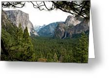 Tunnel View Framed Greeting Card