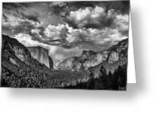 Tunnel View In Black And White Greeting Card