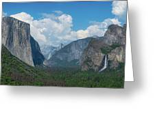 Tunnel View In Yosemite  Greeting Card