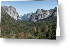 Tunnel View Of Yosemite During Spring Greeting Card