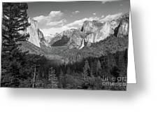 Tunnel View Shadow Bw Greeting Card