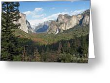 Tunnel View Shadow Greeting Card