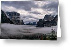 Tunnel View Storm Clouds Greeting Card