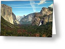Tunnel View Yosemite Greeting Card